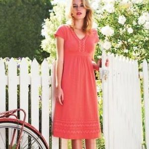 BODEN Embroidered Cotton Dress